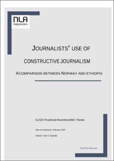 Journalists Use Of Constructive Journalism
